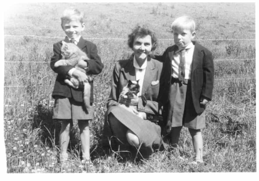 'Alan Jenkins', right, and his brother, Christopher, not long after they have been fostered by Lilian Drabble, centre, 1959