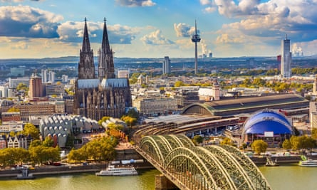 Cologne in Germany with a view of the train station.
