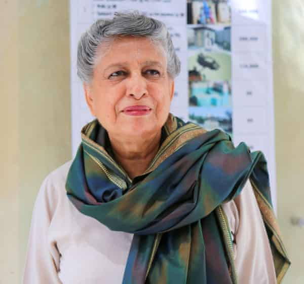 'I think female architects in the UK have a much tougher time' ... Yasmeen Lari.