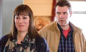 Judy (Rebecca Root) and Geoff (Steve Jackson) in Boy Meets Girl.