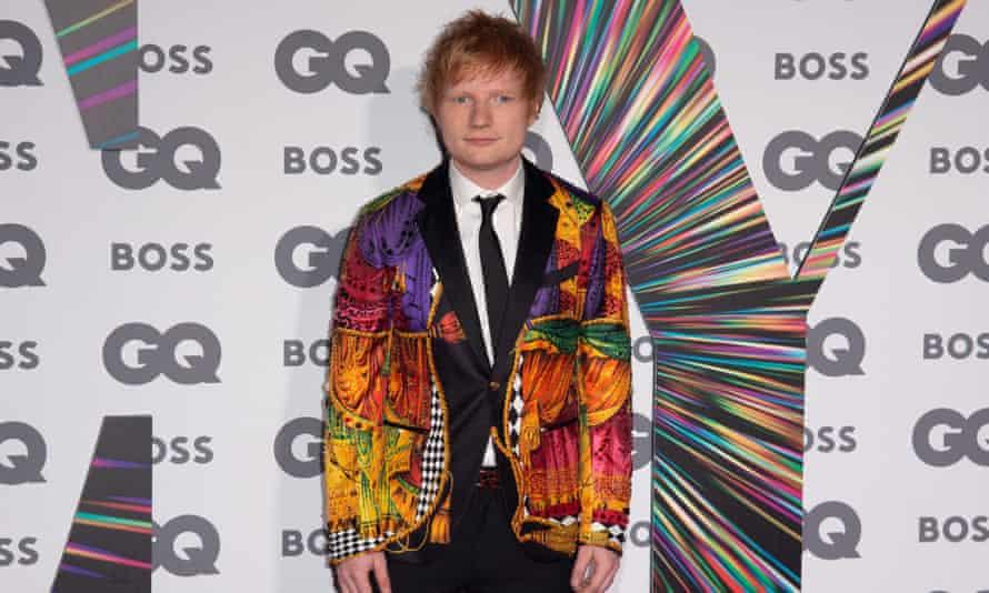 Ed Sheeran at the GQ Men of the Year Awards this week.