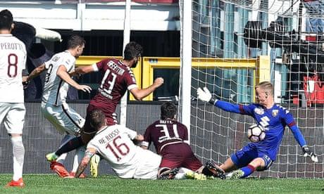 Joe Hart helps Torino to win over Roma as Francesco Totti scores 250th Serie A goal