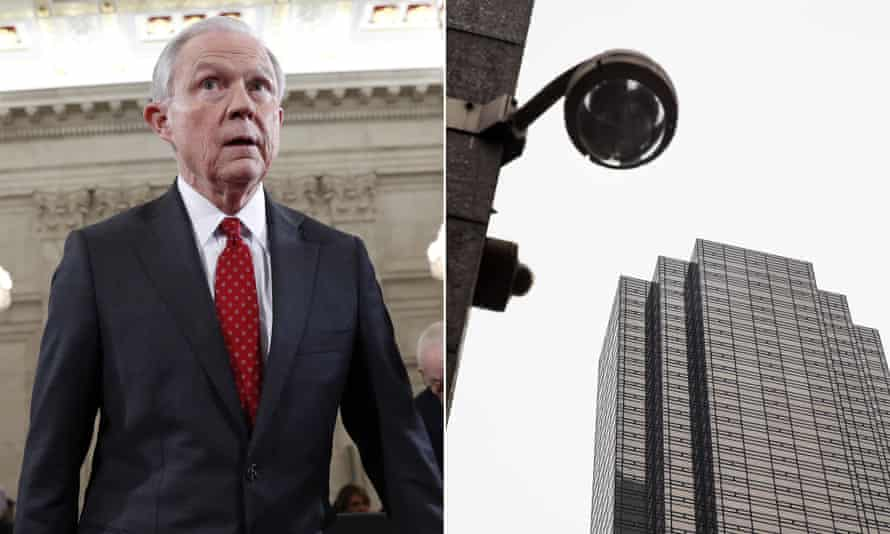 """Jeff Sessions; """"wiretapping at Trump Tower"""""""