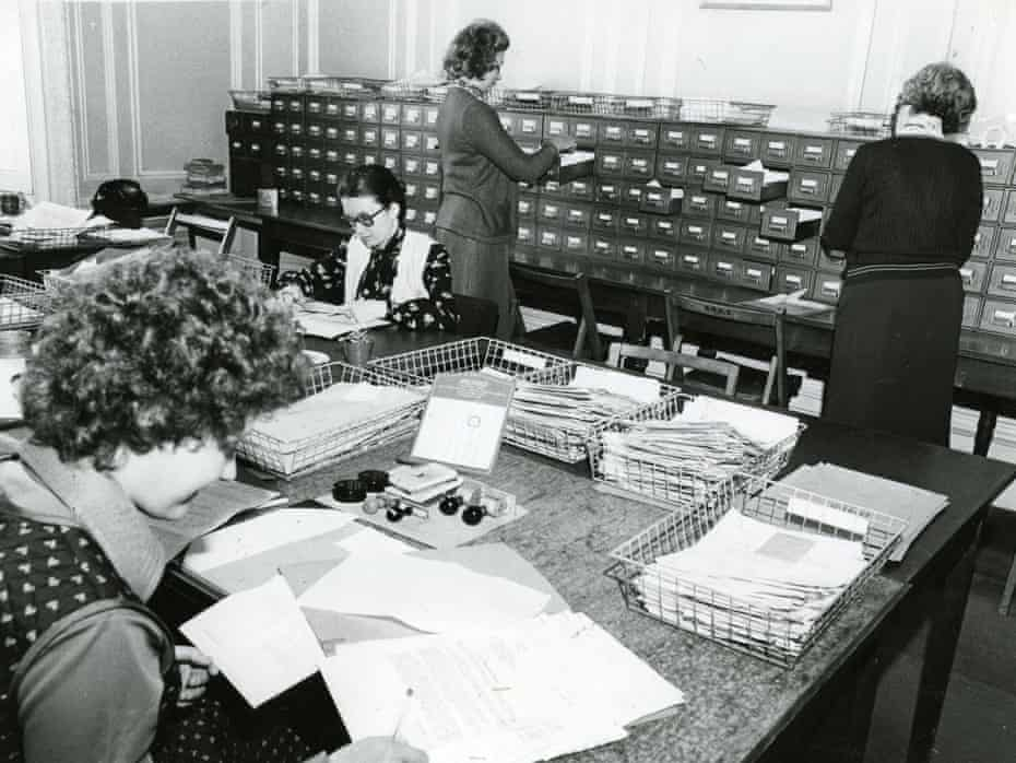 Red Cross International Family Tracing case registry in 1979