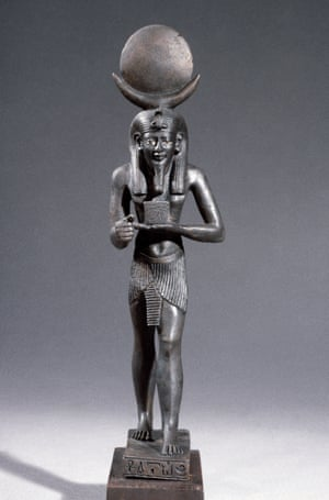 Bronze figure of Iah, a lunar deity in ancient Egyptian religion