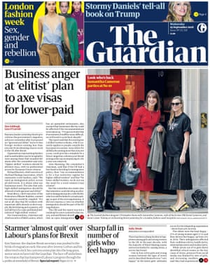 Guardian front page, Wednesday 19 September 2018