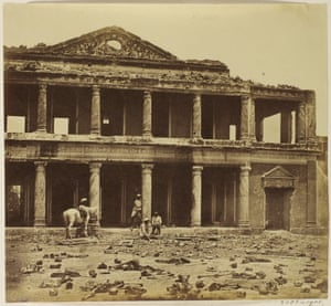 Interior of the Bada Imambada after the Indian mutiny of 1857, taken in 1858
