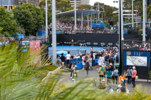 A view looking over the outer courts.