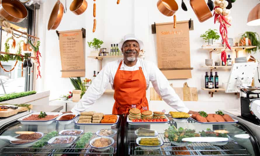 Anthony Maynard, one of the staff at the Sainsbury's meat-free butcher