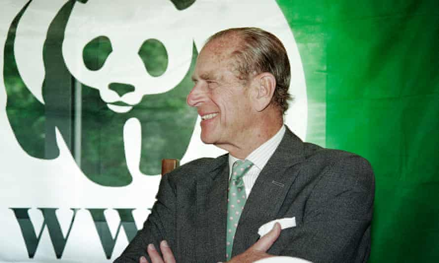 Prince Philip at a press conference for the World Wide Fund for Nature in Ougney-les-Champs, France, in 1995. Prince Philip was President of the WWF from 1981 to 1996.
