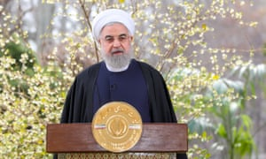 President Hassan Rouhani delivers a speech on Noruz, the Iranian New Year.