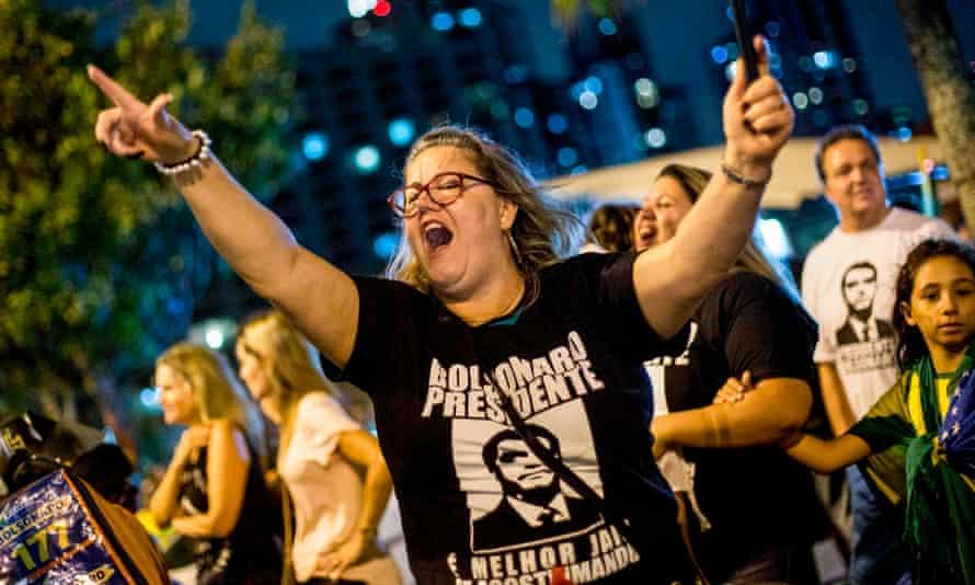 Supporters of Jair Bolsonaro.