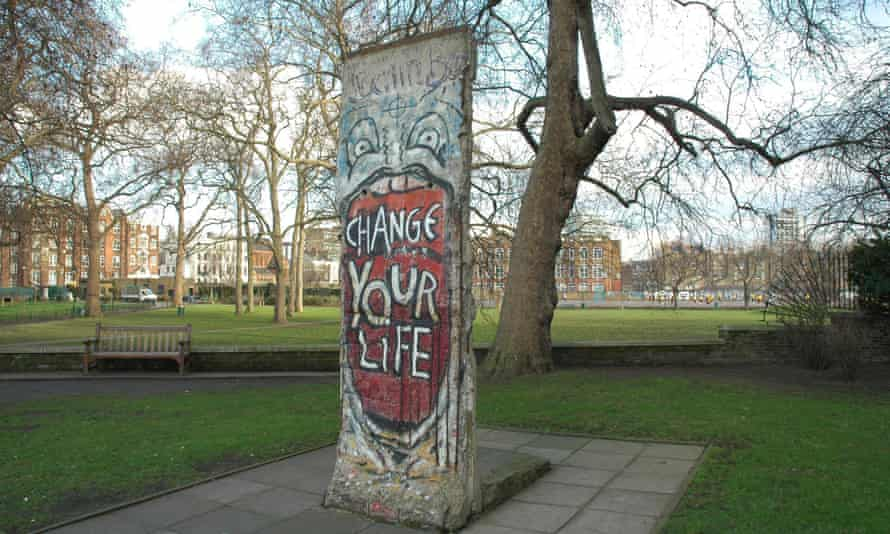 A segment of the Berlin Wall outside the Imperial War Museum, London.