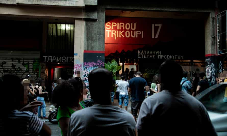 The Sprirou Trikoupi 17 squat, one of the 23 anarchist and refugee squats currently occupied in the Exarcheia neighbourhood of Athens.