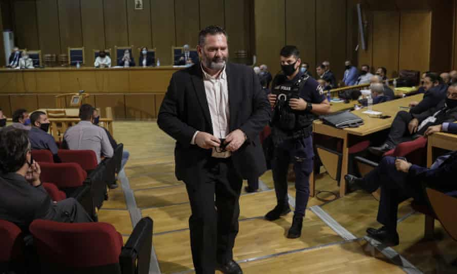 Ioannis Lagos pictured during a court session on his sentencing in Athens in October 2020