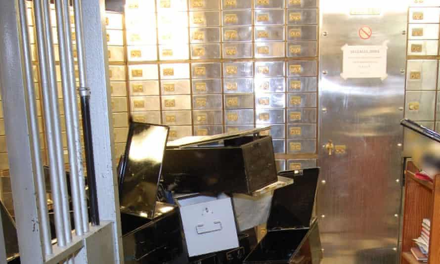 Inside the Hatton Garden Safe Deposit company vaults after the heist.