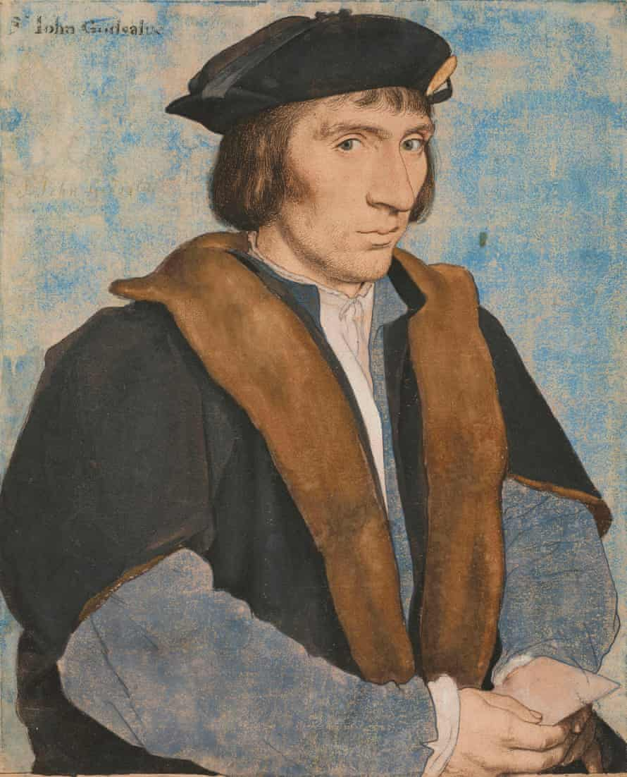 Holbein the Younger's coloured drawing of Sir John Godsalve.