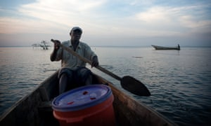 A fisherman from Bugala, in Uganda's Ssese islands