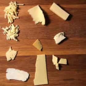 'We tried a lot of cheese' says Felicity.