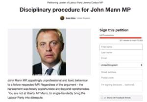 Change.org petition for John Mann