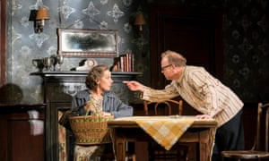 Zoë Wanamaker and Toby Jones in Ian Rickson's production of The Birthday Party.