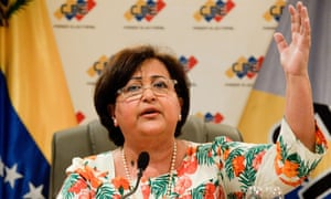 The president of the Venezuelan National Electoral Council (CNE), Tibisay Lucena,