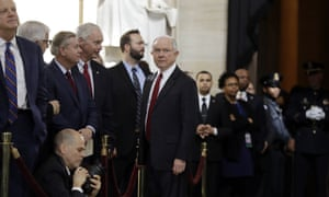 Jeff Sessions at the Capitol building Wednesday in Washington DC.