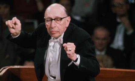 Stravinsky conducting in 1968