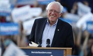 Bernie Sanders speaks during a recent rally in Denver.