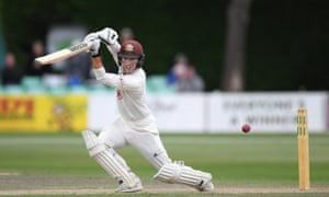 Surrey's Rory Burns scored an unbeaten century at Worcestershire.