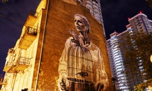 'Lilly Of The Valley' by Australian artist Guido van Helten. The portrait is of 19th century Ukrainian poet known as Lesya Ukrainka, one of Ukraine's best-known writers and the foremost female writer in Ukrainian literature