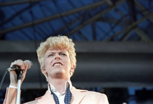 David Bowie plays the Milton Keynes Bowl in 1983 on the Serious Moonlight Tour.