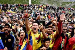 Stage 20 Albertville - Val Thorens 59.5kmColombian fans cheer in Val Thorens