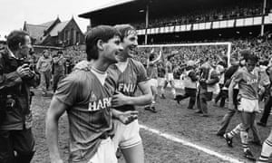 Everton clinched the league title for the eighth time in their history with a 2-0 win over Queens Park Rangers on 6th May 1985.