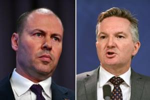 A composite image of Treasurer Josh Frydenberg and Shadow Treasurer Chris Bowen.