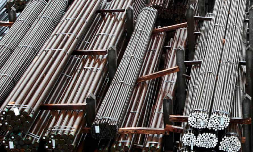 Steel bars.