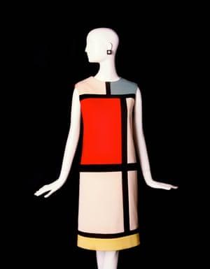 Short cocktail dress, tribute to Piet Mondrian.