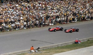 Mario Andretti, left, and A.J. Foyt