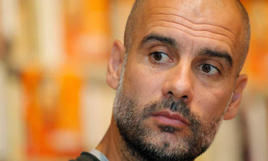 Pep Guardiola, the Manchester City manager.