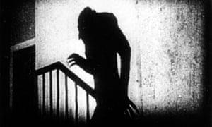 Max Schreck as Count Orlok in FW Murnau's Nosferatu.