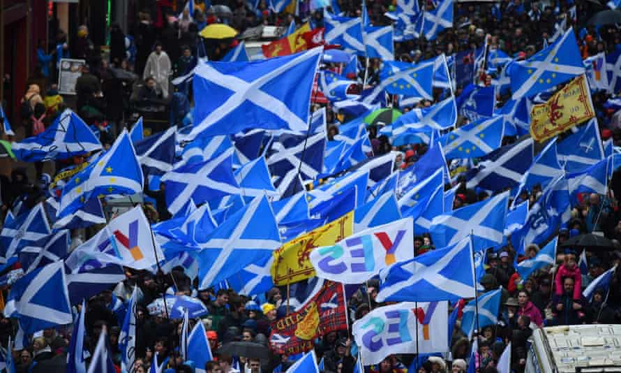 A Scottish independence march in Glasgow on 11 January.