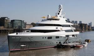 'Aviva' luxury yacht belonging to billionaire Joe Lewis