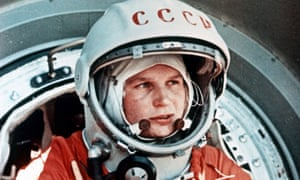 Valentina Tereshkova, the first woman in space, in 1963.