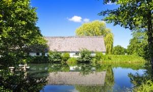 Old Mill Esrum farm in Royal North Sealand national park in Denmark