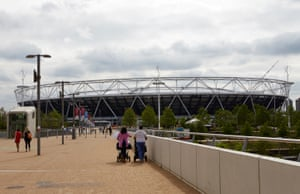 The exterior of the stadium has become part of the Stratford landscape amid an ever shifting patchwork of construction work on the Olympic Park that is starting to coalesce into a recognisable whole. Yet the huge cost and controversy over the the public funds used to pay for it hang over the stadium like a cloud.
