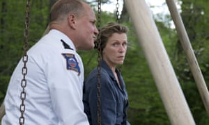 Woody Harrelson, left, and Frances McDormand in a scene from THREE BILLBOARDS OUTSIDE EBBING, MISSOURI.
