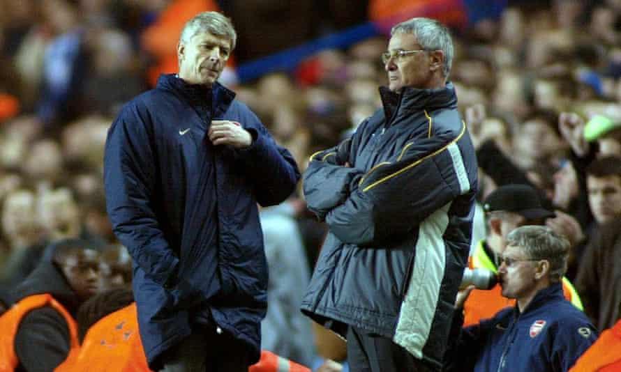 Arsène Wenger and Claudio Ranieri