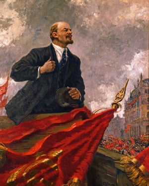 Lenin by Alexander Gerasimov, whose pictures of Soviet leaders were interchangeable in style with paintings of Hitler by German artists.