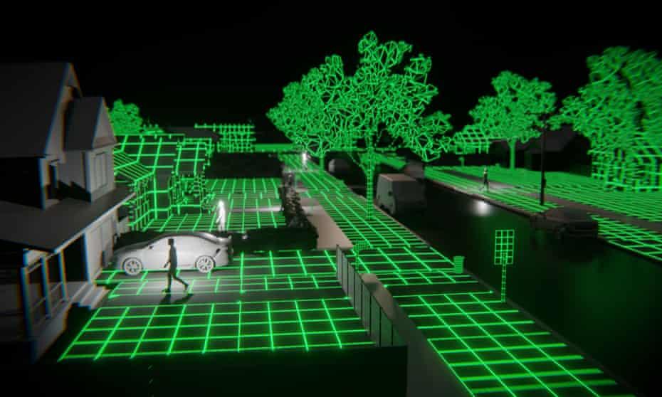 A scene from A Glitch in the Matrix.