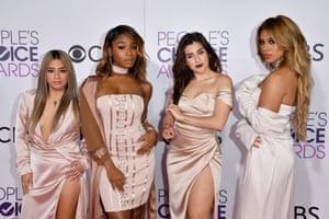Recording artists Ally Brooke, Normani Hamilton, Dinah Jane Hansen and Lauren Jauregui of Fifth Harmony